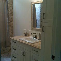 bathroom vanity tower ideas. Shaker Bathroom Vanity With Linen Tower Design Ideas  Pictures Remodel and Decor bathroom vanities with linen towers 36 39 shown 42