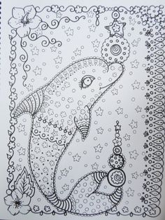 COLORING BOOK DOLPHINS Coloring Book You be the by ChubbyMermaid