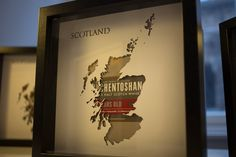 Whisky maps with original packaging