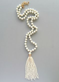 Handmade Mughal Pearls Tassel Necklace – Pree Brulee