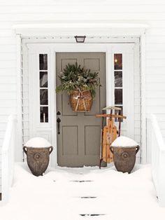 Door with snow