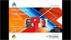 Enjoy the ease-of-use of #Python and learn how you can use it for #IoT #Edge Device applications in our on-demand #webinar. #iiot #ML #machinelearning #Torizon #edgecomputing #Doulos #RahulDubey #ValterMinute How To Use Python, Machine Learning Models, Engineering, Videos, Technology