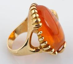 Yellow Gold Fire Opal Ring for auction. Please see attached appraisal image for more information. Opal Rings, Gemstone Rings, Auction, Canada, Fire, Yellow, Antiques, Gold, Jewelry