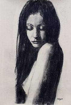 Original-Charcoal-Nude-Portrait-Drawing-by-Northern-Artist-Terence-Kelly