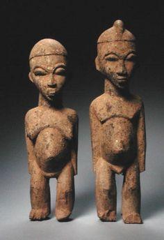 "African ""Lobi Figures, Burkina Faso"""