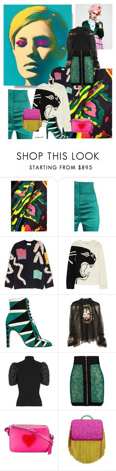 """Pop! Goes my heart"" by katelyn999 ❤ liked on Polyvore featuring Peter Pilotto, Haider Ackermann, Valentino, Sergio Rossi, Dolce&Gabbana, Balmain, Anya Hindmarch and The Volon"
