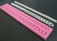 Cadena larga Fondant de silicona del molde del monedero del bolso molde de la torta Sugarcraft que adorna la herramienta(China (Mainland))