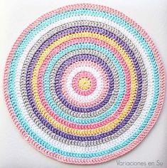 Centro de mesa de ganchillo // Crochet centerpiece