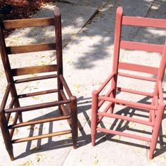 Imagined Antique Ladder Back Chairs