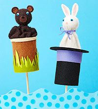 Learn how to make entertaining pop-up puppets. Learn how to make entertaining pop-up puppets. Puppet Crafts, Craft Stick Crafts, Diy And Crafts, Arts And Crafts, Clown Crafts, Foam Crafts, Puppets For Kids, Hand Puppets, Finger Puppets