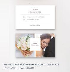 Photographer Business Card Template - Photoshop Templates - Photo Marketing Templates - Digital - By Stephanie Design