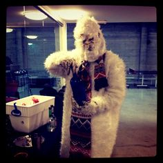 """The @viralheat Yeti is bartending for everyone here @klout right now!"" --@meganberry"