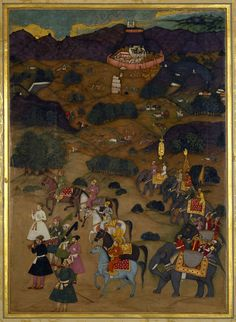Shah-Jahan visits the shrine of Khwaja Mu'inuddin Chishti at Ajmer (November Mughal Miniature Paintings, Mughal Paintings, Indian Paintings, The Royal Collection, Mughal Empire, Galaxy Wallpaper, Illuminated Manuscript, Islamic Art, Indian Art