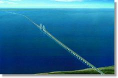 Hangzhou Bay Bridge is the longest trans-oceanic bridge in the world. It extends over 35.673 kilometers (22 miles) in length and carries six lanes of traffic between Shanghai & Ningbo, China.