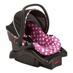 Disney Baby Minnie Mouse Light N Comfy Luxe Infant Car Seat, Minnie Dot by Disney - reallygreatstuffonline Minnie Mouse Car, Baby Mouse, Mickey Mouse And Friends, Pink Minnie, Baby Mickey, Disney Mickey, Car Chair, Car Seat And Stroller, Baby Car Seats