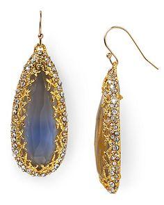 Alexis Bittar Siyabona Gold Cerulean Teardrop Earrings   Bloomingdale's