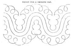 Braid pattern for a smoking cap, 1860  (option 11)