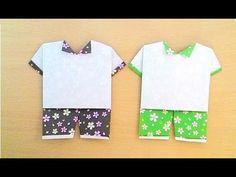 Origami shirt with shorts...พับกระดาษชุดกางเกง...