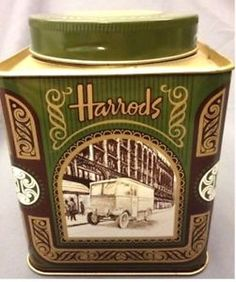 Harrods vintage tea tin in very good condition