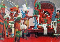 The Elites:Scholars believe over 10 percent of the Mayan society consisted of the elites, called itz'at winik (wise people) noted in the text of Tamarindito. The caste attained literacy and wealth, and passed down status through long lineages, including positions in the government and society. Murals in vase paintings depict the elites surrounding the king at court, including priests, warriors, scribes, musicians, merchants, tribute payers, and painters.