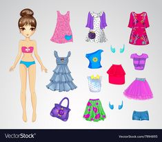Find Paper Doll Clothes Pretty Pet Casual stock images in HD and millions of other royalty-free stock photos, illustrations and vectors in the Shutterstock collection. Thousands of new, high-quality pictures added every day. Paper Dolls Clothing, Barbie Paper Dolls, Doll Clothes, Disney Paper Dolls, Dress Clothes, Cartoon Trees, Gift Vector, Paper Dolls Printable, Paper Fashion