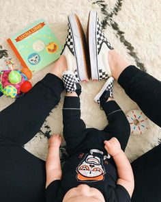 Mama and babe matching checkerboards. Via Oh yeah, me and my future child. Mom And Son Outfits, Baby Boy Outfits, Kids Outfits, Mommy And Son, Mom And Baby, Baby Love, Checkered Vans Outfit, Baby Vans, Toddler Shoes