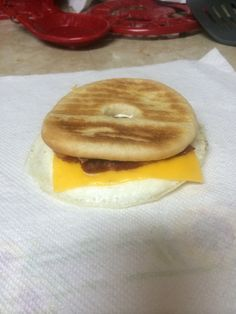 I received a pack of Sargento Ultra Thins from Influenster and created my favorite breakfast sandwich. Lightly toast and then spread a thin layer of onion and chive cream cheese on a bagel/bagel thin, add a fried egg, one piece of Sargento Ultra Thin cheese, and a couple pieces of bacon, and enjoy! #SargentoUltraThin