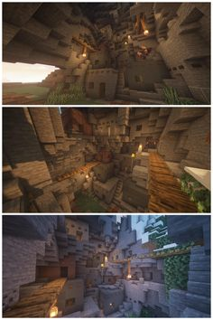 I made a cliff dwelling village By u/jeaf_ Minecraft Building Guide, Minecraft Plans, Minecraft City, Minecraft Construction, Minecraft Survival, Minecraft Blueprints, Minecraft Cliff House, Cute Minecraft Houses, Amazing Minecraft