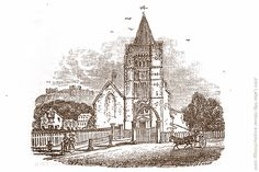 Georgian engraving of St Mary the Virgin Church by George Wilmot Bonner, Dover, Kent, England, UK. Norman or Saxon St Mary the Virgin Church was built on a Roman site in modern-day Cannon Street. Restored by the Victorians and a Grade II Listed Building. Artwork done 1828 - 1837 by firm of woodcut engraver G. W. Bonner of London while W. J. Linton was an apprentice. Urban Dover Art, Architecture, and History photo. More information at http://www.panoramio.com/photo/5406336