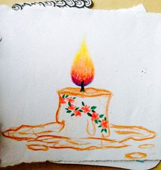 Flower Candle ~ a drawing by sana ahmed