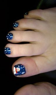 Snowman Toes for my Morgan