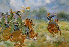 """Kossak, Jerzy (1886-1955) """"Uhlans Attack"""""""