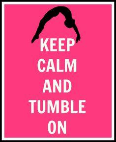 Keep Calm and Tumble On Gymnastics Digital Print. $5.99, via Etsy.