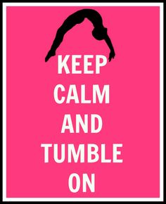 Keep Calm and Tumble On Gymnastics Digital Print. $5.99, via Etsy.