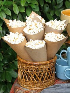 Popcorn and Peanut Cones - America's Table Water Games For Kids, Indoor Activities For Kids, Family Activities, Outdoor Activities, Tailgating Recipes, Tailgate Food, Backyard For Kids, Backyard Games, Outdoor Games
