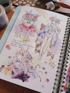 oc by Mappiee on DeviantArt Manga Art, Anime Art, Arte Sketchbook, Kawaii Art, Pretty Art, Cartoon Art, Cute Drawings, Art Inspo, Art Sketches