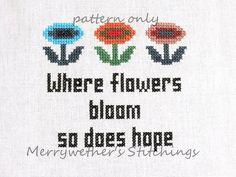Super Mario Bros- Where Flowers Bloom - Cross Stitch PATTERN.
