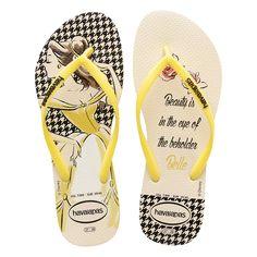 Sandálias Sandalias Havaianas Slim Princesas Amarelo - havaianas