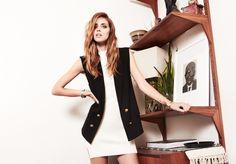 The Blonde Salad's Chiara Ferragni rocks a simple white dress + vest