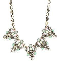 Look at this #zulilyfind! Turquoise & Goldtone Statement Necklace by Lux Accessories #zulilyfinds