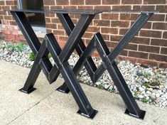 Diamond Dining Table Legs Industrial Legs von MetalAndWoodDesign