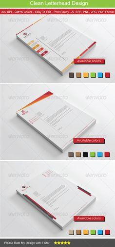 Clean Colors Letterhead Bundle