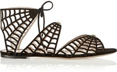 Charlotte Olympia Miss Muffet cutout suede sandals