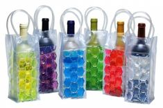 CHILL at WILL Wine Freezer tote bags.Heading to a BYOB party? Keep the chilled wine bottle in this frozen bag and carry it in style. Sangria, Chill Bag, Picnic Drinks, Frozen Bag, Chilled Beer, Champagne Cooler, Wine Bucket, Wine Chiller, In Vino Veritas