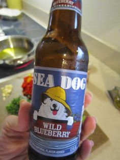 Sea Dog Blueberry Beer (my new obsession, thank you Ashley and thank you Maine)