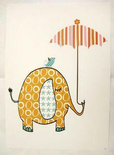 lief plaatje van olifantje (idee voor muurschildering)