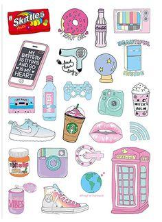 Cute Stickers Laptop Sticker Suitcase Sticker Skateboard Stickers Decorative Sticker Gift Packaging - Laptop - Ideas of Laptop - Tumblr Stickers, Phone Stickers, Cute Stickers, Planner Stickers, Wallpaper Stickers, Free Printable Stickers, Kawaii Stickers, How To Make Stickers, Journal Stickers