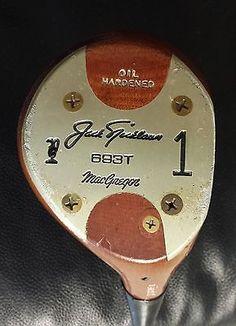 Vintage MacGregor 693T Persimmon 1 Driver Jack Nicklaus Claret Jug | eBay