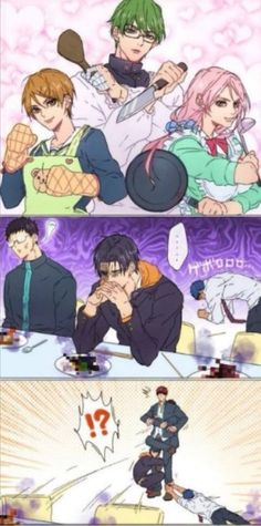 If they are (riko, midorima and momoi) cooking a food. Anyone who eats it must have food poisoning