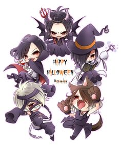 Gazette Halloween chibis